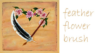 Feather Flower Brush